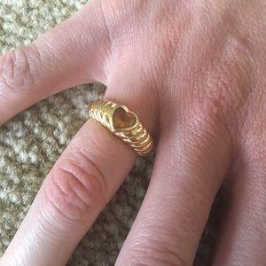 TIFFANY & CO 18K Gold Citrine Ring Size 5